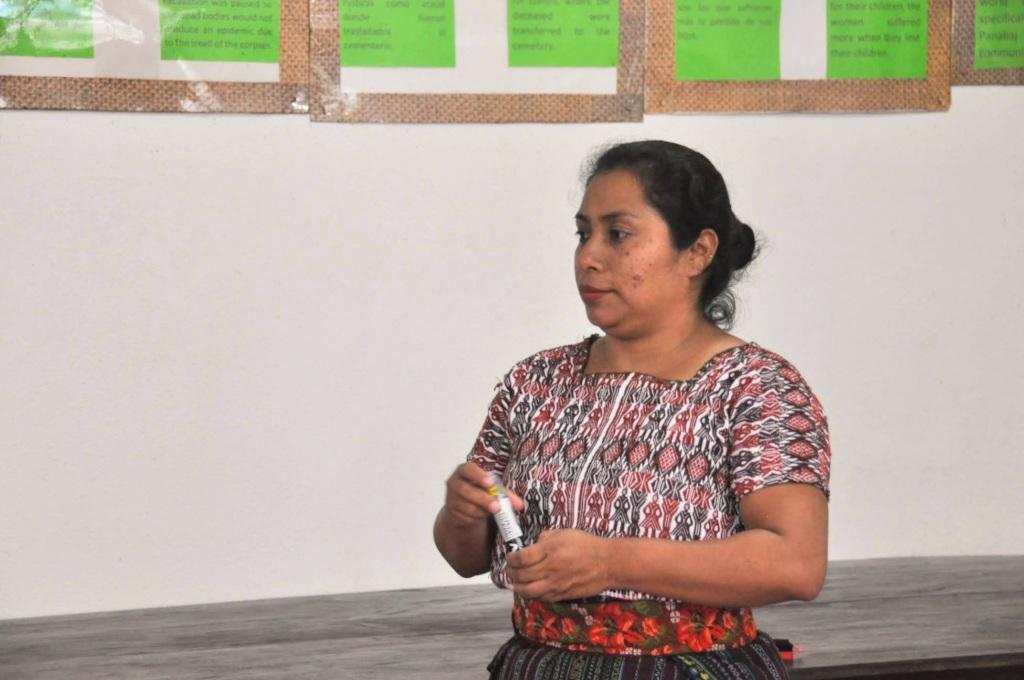 Sandy listens to a participant
