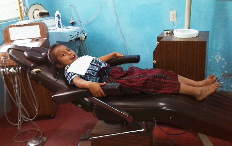 Marta at the dental clinic