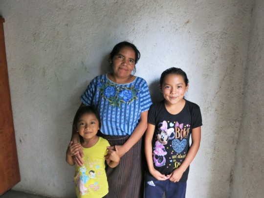 Concepcion with her mother and younger sister