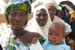 Mothers wait to get help for malnourished children