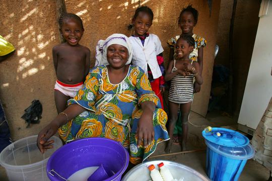cash-for-work beneficiary in Gamkale, Mali