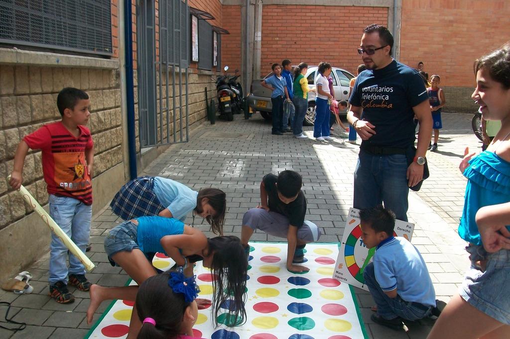 Children having fun instead of working!