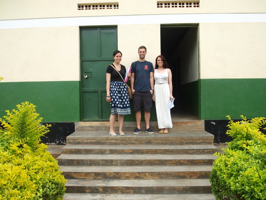 Dan, Xaveria, Danielle arrive at WMI in Buyobo