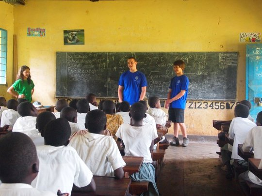Teaching at Buyobo Primary School