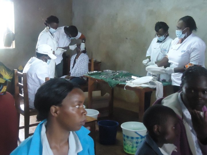 Patients being served at dental clinic