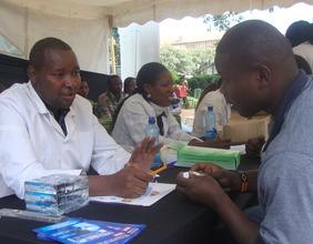 Discussing proper oral care