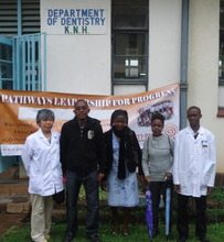 A Global Giving donor visiting Dentcare project