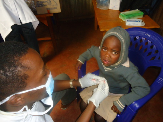 Beneficiary at Limuru dental service