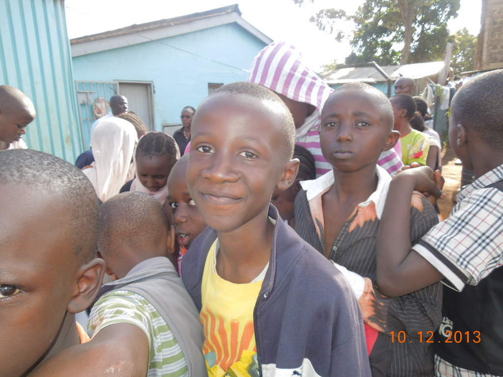One of the beneficiaries at the Kibera dental camp