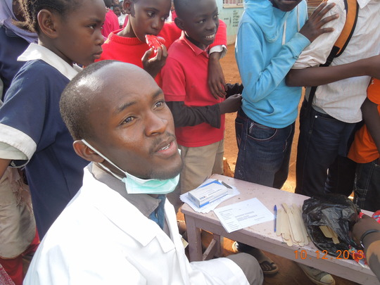 David Mudia at the Kibera free dental camp