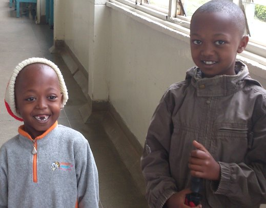 Children waiting to receive dental check