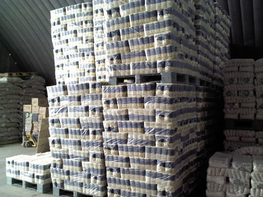 Food at the Warehouse, ready to be shipped
