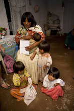 Mother of Four Visits with Community Health Worker