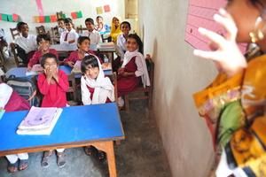 A DIL classroom in the Ranjali area
