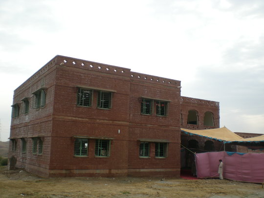 A completed multi-floor school building
