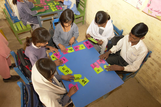 The Ranjali students in their rented classroom