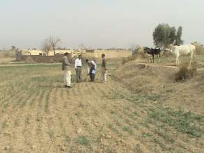Surveying the selected site in Ranjali