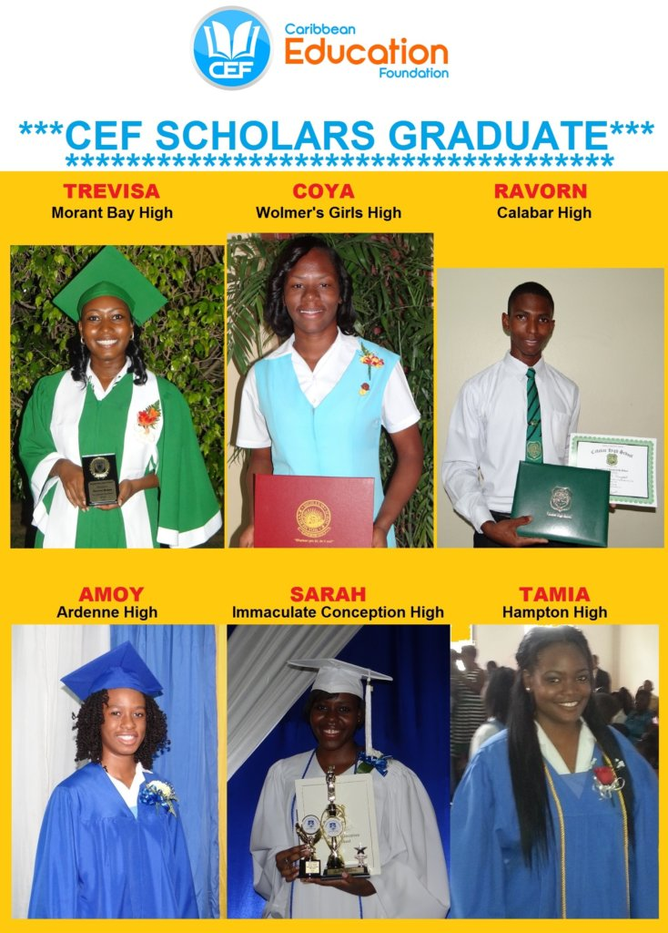CEF SCHOLARS at their high school graduations 2015