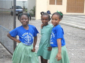 Students at St. Peter Claver Primary School