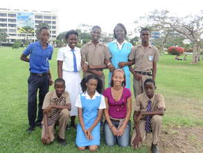 Ms. McLennon with CEF Scholarship Recipients 2013
