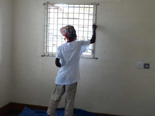 Learning Center Clean Up- Painter Paul is prepping