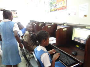 Students at the Center's Computer Area