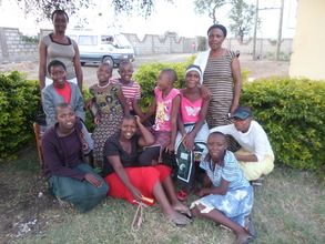 Some of the girls supported by Shalom