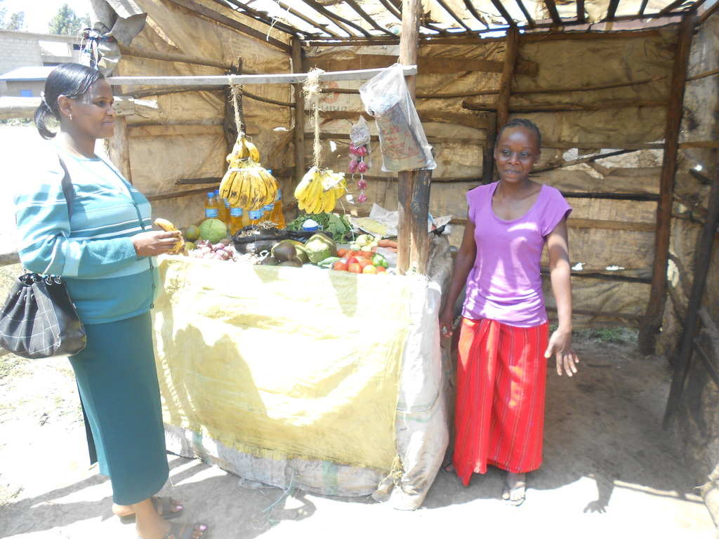 One of the girls with her new business