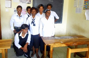 Some of the girls at the training centre