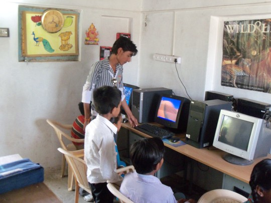 Children participating in our computer courses