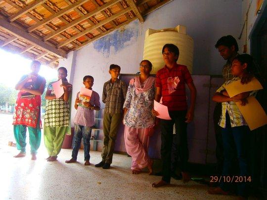 Life Skill training of Balsena Children