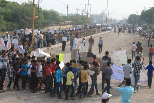 Child Right week celebration rally by children