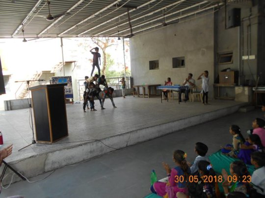 Children performing during Cultural day