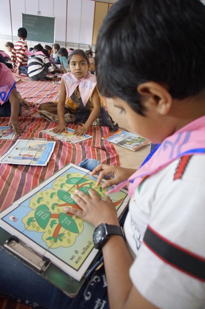 Balsena children working on leadership activities