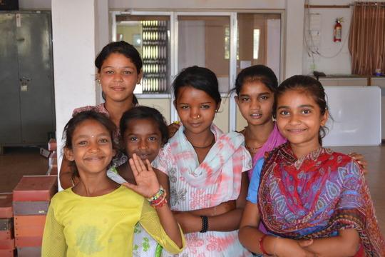 Child girl labourers visiting Shaishav