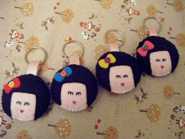 Image for Kokeshi Keyrings for Japan